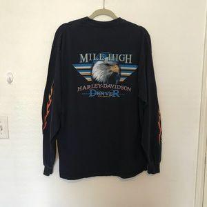"Harley-Davidson Shirts - HD ""Mile High"" Denver, CO long sleeve shirt | XL"